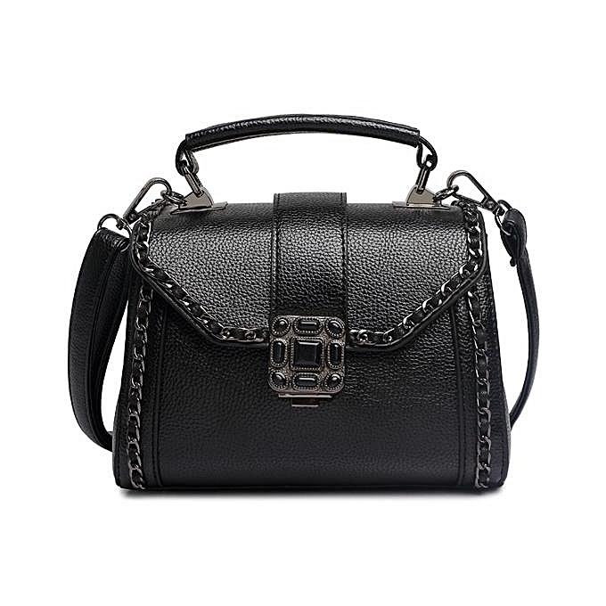 Fashion 2017 new European and American fashion handbag personality retro wild fashion doctor bag shoulder Messenger bag à prix pas cher