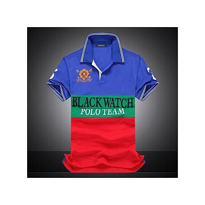 "mode Cotton AERONAUTICA MILITARE Air Force One Polo Shirts Embroidery Aeronautica ""Military"" For Hommes Military Polo Shirt-bleu à prix pas cher"