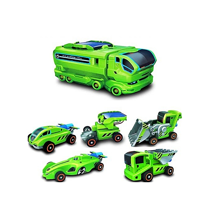 MAIKOU 7 In 2 Solar DIY Assembling Toys Space Educational Toy - bleu à prix pas cher