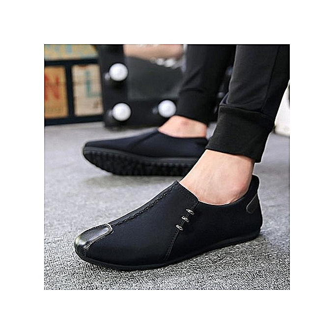 Fashion Slip On baskets Men Loafers Elastic Fabric  (noir) à prix pas cher    Jumia Maroc