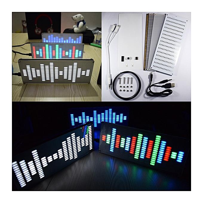 UNIVERSAL DIY Big Taille Touch Control 225 Segment LED Digital Equalizer Music Spectrum Sound Waves Kit Couleurful à prix pas cher