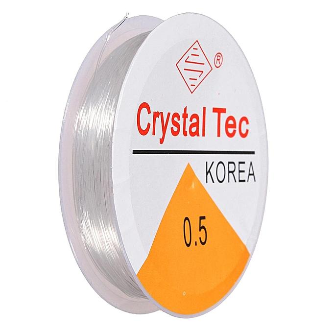 UNIVERSAL 2pcs 0.5mm Crystal Tec Stretch Silicon Elastic String Bead Craft Cord à prix pas cher