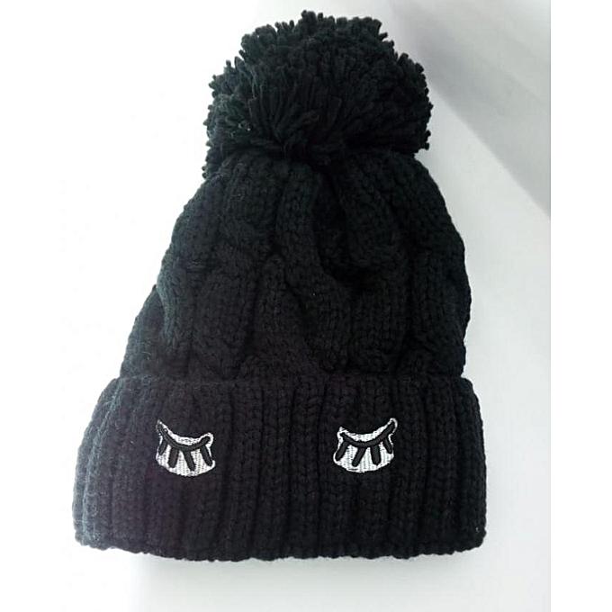 Pour D'hiver Générique Noir Pas Bonnet Femme Prix À Laine Cher En xpxqITB