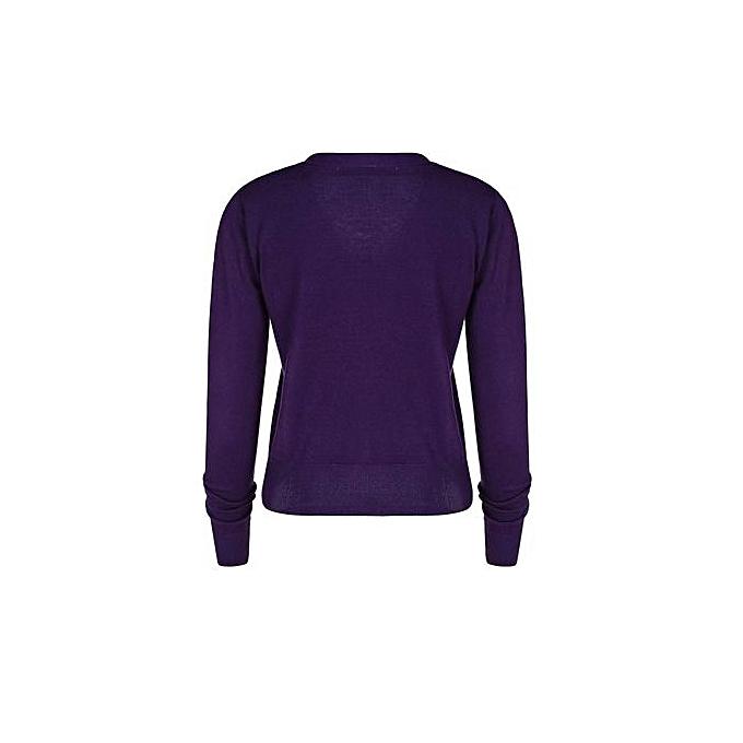Sunweb Meaneor Ladies Casual Long Sleeve High Waist Mini Pleated Dress (violet) à prix pas cher