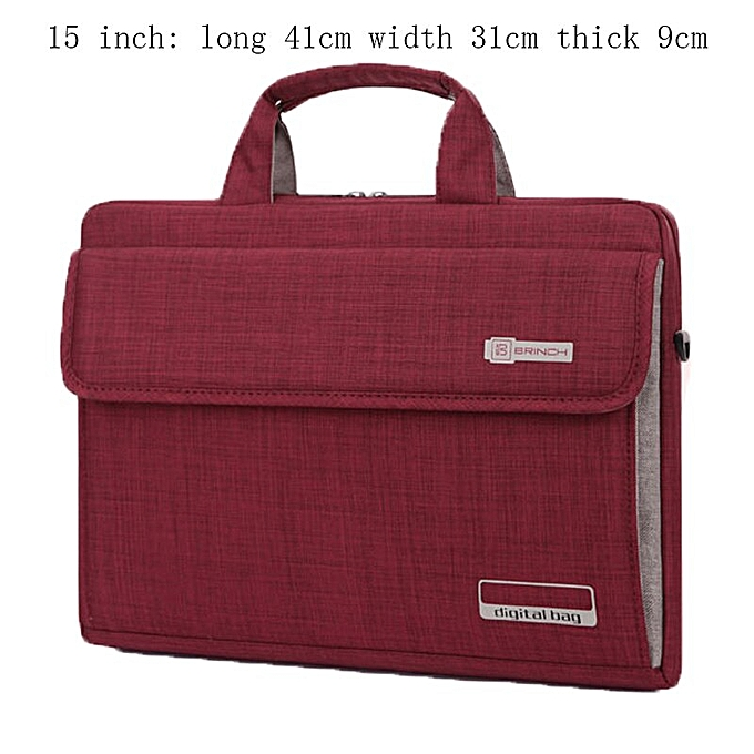 Other NEW  6 Couleurs Big Capacity Nylon 13.3 14 15.6 Inch Laptop Bag Briefcases Prougeective Case Cover Bags B(15inch rouge) à prix pas cher
