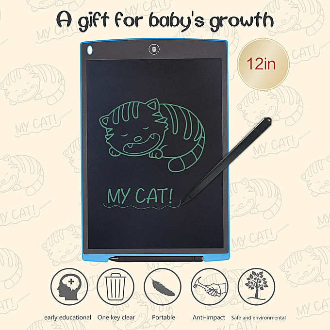 Autre 12-Inch LCD Writing Tablet Drawing and Writing Board Office Note-taking Great Gift for Enfants à prix pas cher