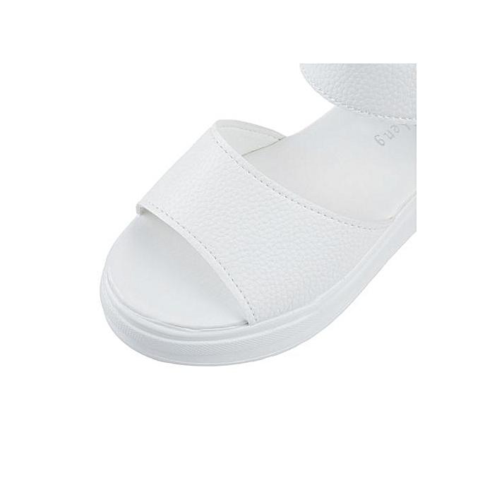 Générique Casual WoHommes  Solid Open Toe Toe Open Wedge Thick Heel Sandals à prix pas cher  | Jumia Maroc 54c623