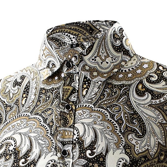 Other nouveau mode Button Design grand Taille Hommes& 039;s impression Shirt à prix pas cher