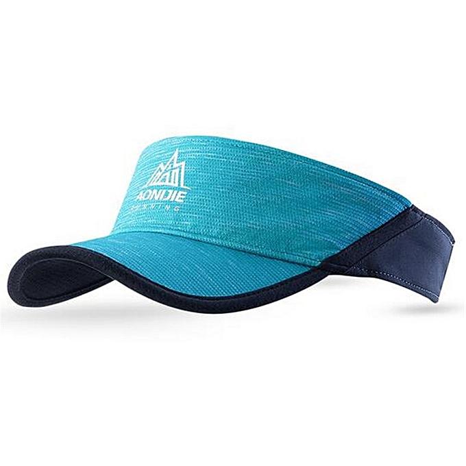 AONIJIE femmes Men Outdoor Sport Marathon Visor Cap Ultralight Quick Dry Running Hat Camping Hiking Anti UV cap(bleu) à prix pas cher