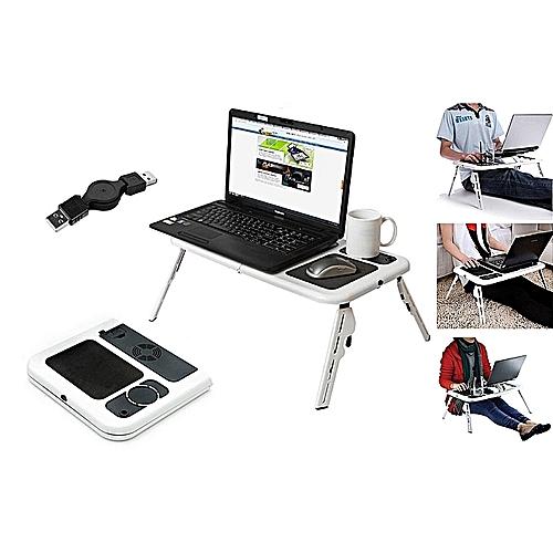 E-TABLE pliable pour PC Portable Réglable avec Ventilateur de  Refroidissement Intégré 62d76115c8c9