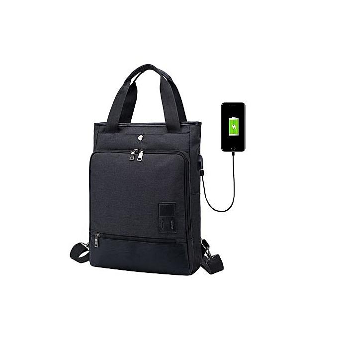 Generic Correponde USB Backpack Canavs Travel Backpack Fashion Large Capacity Bag à prix pas cher