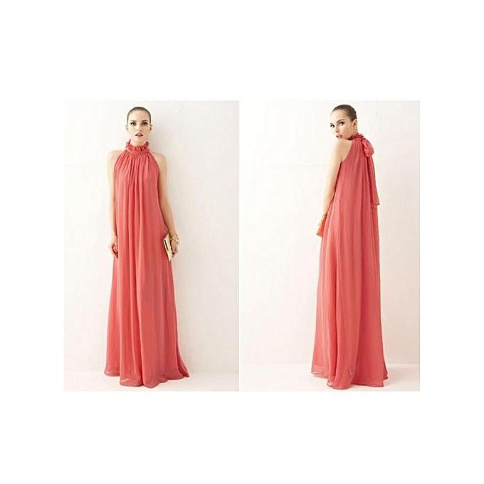 OEM New casual ladies fashion Korean fashion cut shoulders Ruffled stand collar dress-rouge à prix pas cher