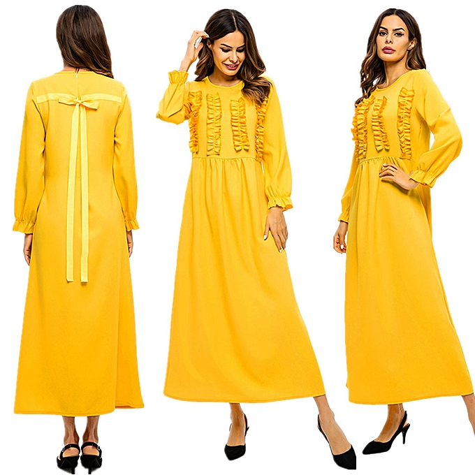 mode (Xiuxingzi) Womne Middle Eastern Muslim Loose Robe European manche longue Robe à prix pas cher