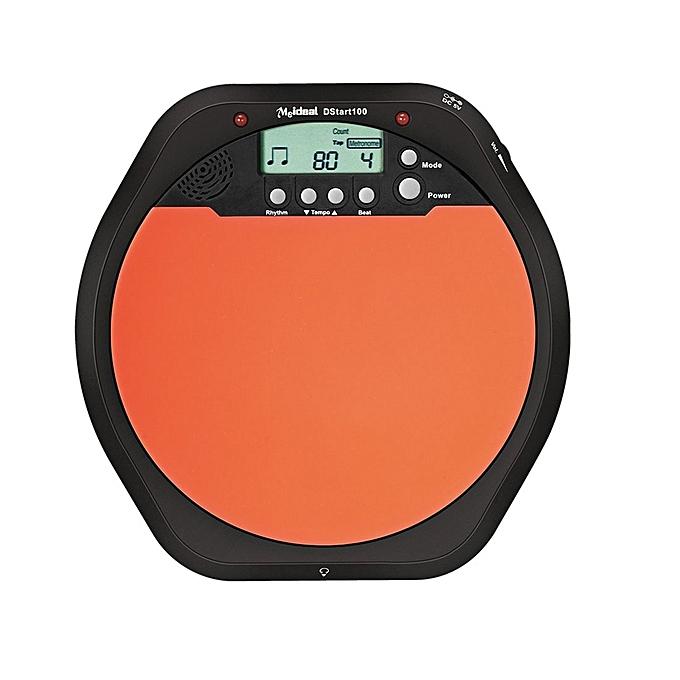 UNIVERSAL Electronic Dumb Combat Board Trainer Drum Exercise Metronome DS100(noir+Orange) à prix pas cher