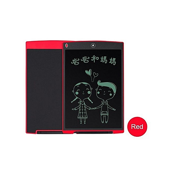 UNIVERSAL 12  Inch LCD Writing Tablet Digital Drawing Tablet Handwriting Pad Board W  Pen rouge à prix pas cher