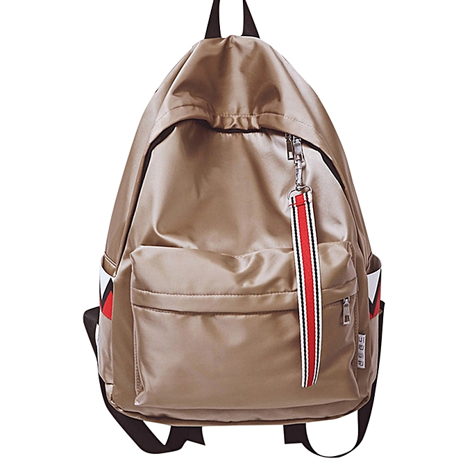 mode Tcetoctre Unisex Warterproof Anti Warter sac à dos Double Shoulder sac Zipper sac-Khaki à prix pas cher