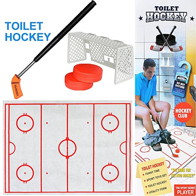 OEM Toilet Hockey Game Decompression Fun Game Ice-hockey Toy à prix pas cher