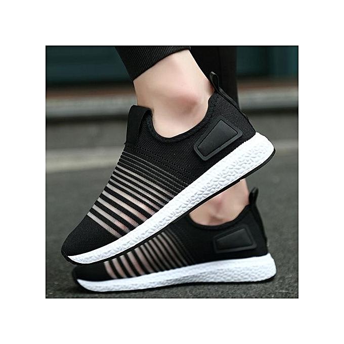 Fashion Jiahsyc Store Men's Spring Casual Travel chaussures Breathable Flats Fashion Sport chaussures-noir à prix pas cher