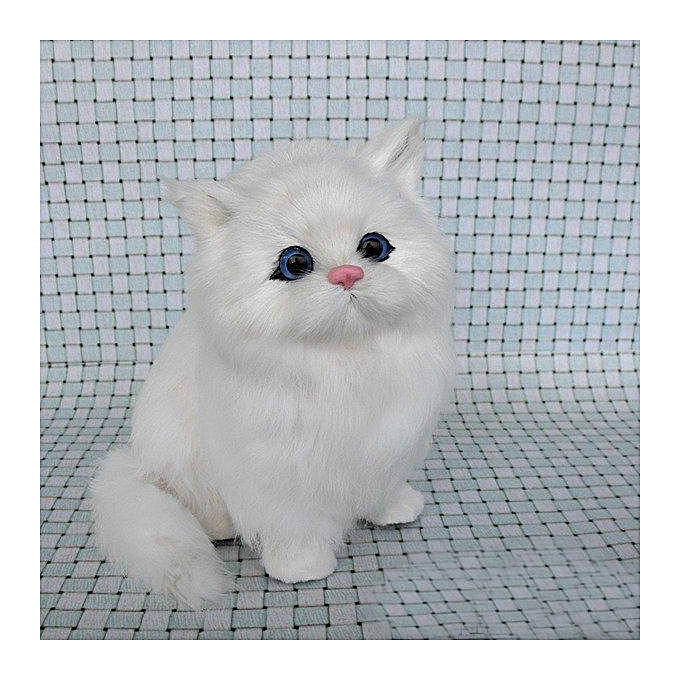 OEM The Old Tree Rabbit hair Lifelike Cat Animals Models Stuffed Plush Toy Realistic Persian Cat Dolls With Sound Effect à prix pas cher