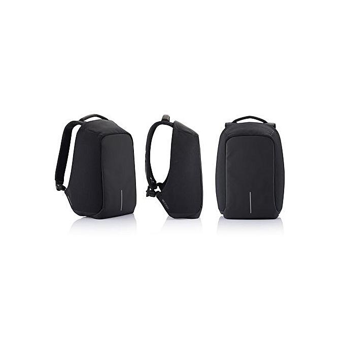 Generic Intelligent Sac à dos antivol avec port USB pour mobile intégré - noir à prix pas cher