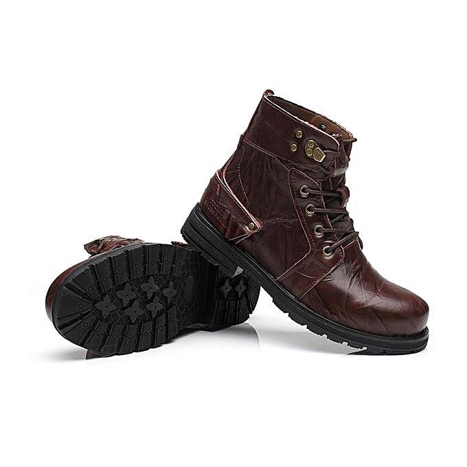 Fashion Fashion   Hight Top Waterproof Waterproof Top Classic 8 Metal Eyelets Crazy Work Ankle Boots-EU à prix pas cher  | Jumia Maroc 3efc62