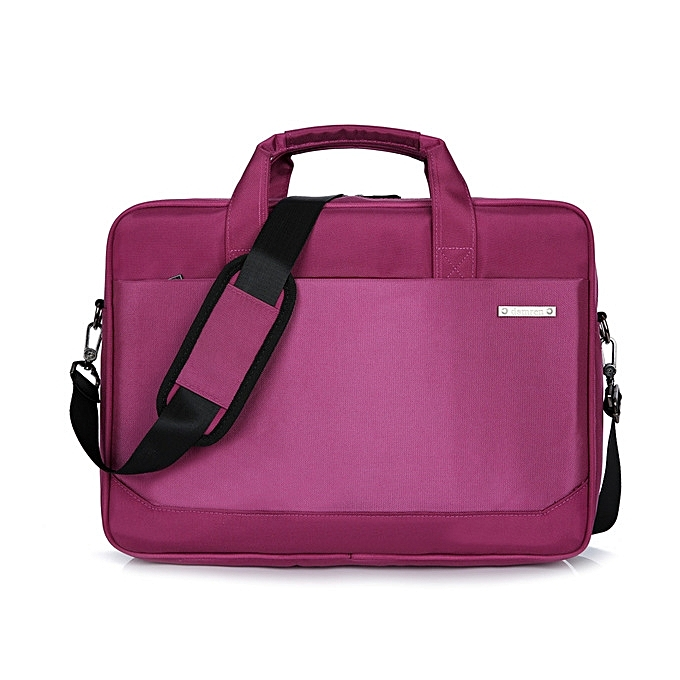 OEM 14 inch unisex imperméable laptop sac shoulder Affaires briefcase-violet à prix pas cher