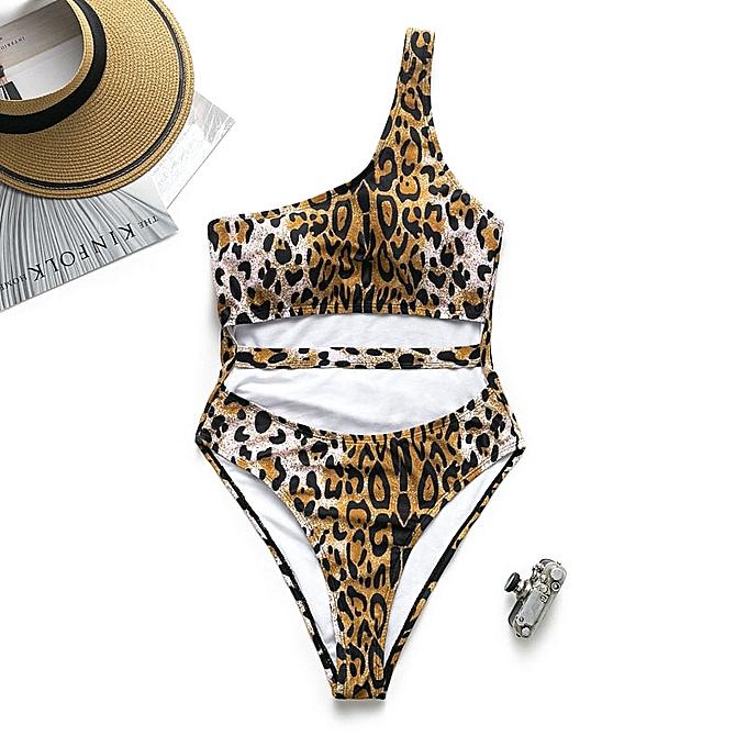 Autre In-X one piece swimsuit female String Leopard print bikini Taille swimwear femmes bodysuit rouge bathing suit(1193-1) à prix pas cher