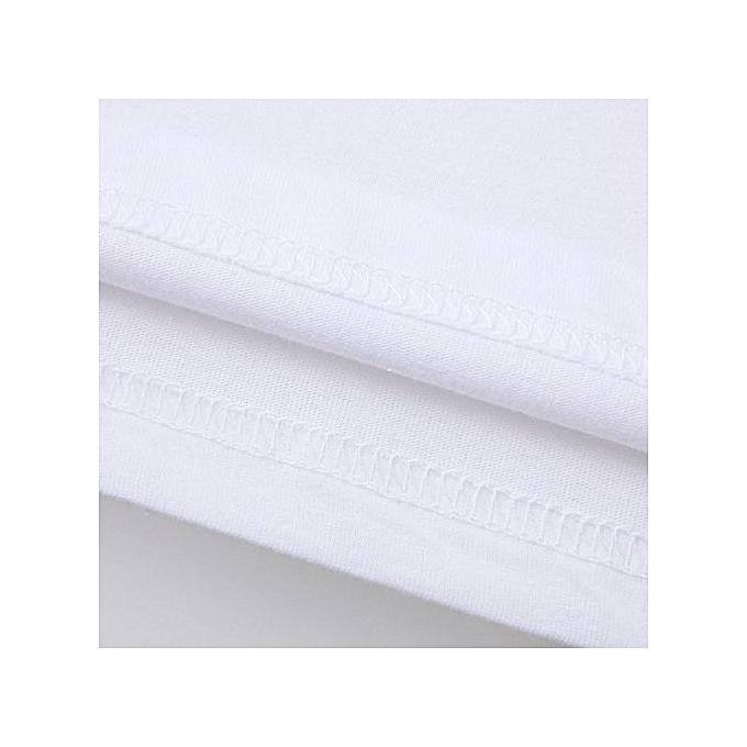 Eissely Men Plus Taille Printing Tees Shirt Long Sleeve T Shirt Blouse S- blanc à prix pas cher