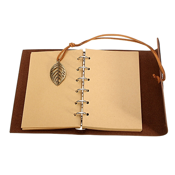 2016 Rushed Sketchbook Stationery Agenda Vintage Notebook Leaf Leather Cover Loose Blank Journal .