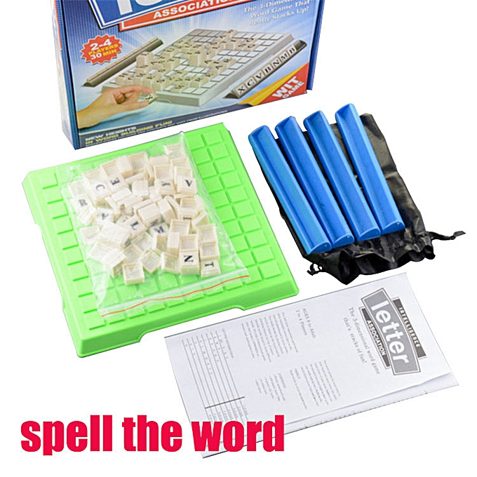 Generic Spell The English Word Desktop Games Learning Tool Puzzle Educational Toy Gift à prix pas cher
