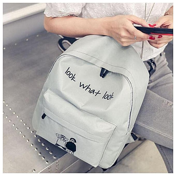 Fashion Xiuxingzi Girl Boy Canvas School Bag Travel Backpack Satchel Cartoon Shoulder Rucksack GY à prix pas cher