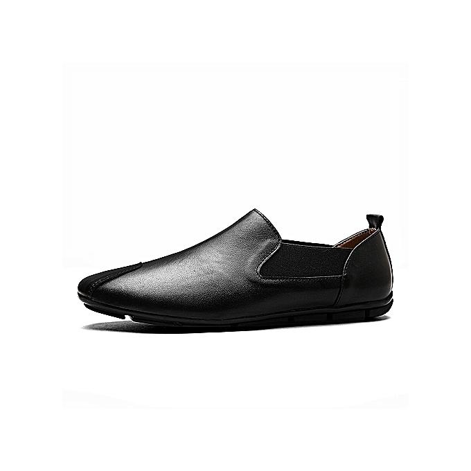 OEM New arrivel arrivel New Beauty Fashion Genuine Leather  s Loafers Fashion Handmade Moccasins Cow Leather   Flats Black Blue Slip On Male Boat Shoe-Noir  à prix pas cher  | Jumia Maroc 3726ad