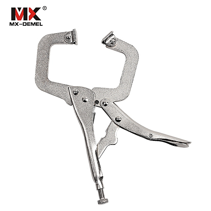 Autre 6 inches 9 inches 12 inches C-type High-carbon Steel Pliers Welding Clamp Manual Pliers Hand Tools Clamping Tools( 9 Inches) à prix pas cher