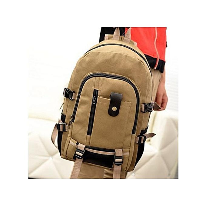 mode Xiuxingzi_Hommes Army Couleur Vintage Design voyage sac à dos Décontracté toile sac à doss KH à prix pas cher