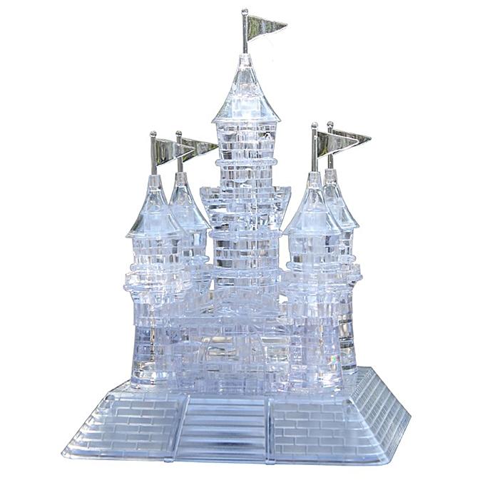 UNIVERSAL Transparent 105pcs 3D Crystal Castle Puzzle Music Flashing lumière Jigsaw Model à prix pas cher