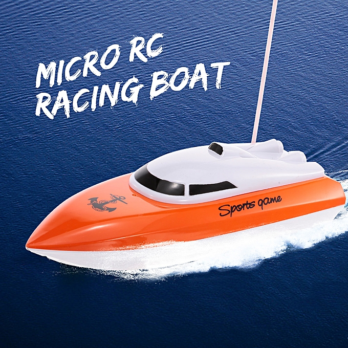 Autre HEYUAN 802 Portable Micro RC Racing Boat Remote Control Speedboat Boy Gift Kid Toy à prix pas cher