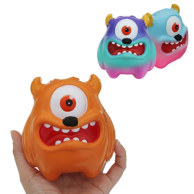 UNIVERSAL One-eyed Monster Squishy 1110.58CM SFaible Rising voituretoon Gift Collection Soft Toy-jaune à prix pas cher