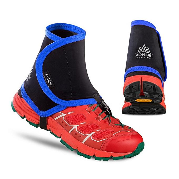AONIJIE E940 Outdoor Unisex High Trail Reflective Gaiters Prougeective chaussures Covers For Running Jogging Marathon Hiking Cycling(noir bleu) à prix pas cher