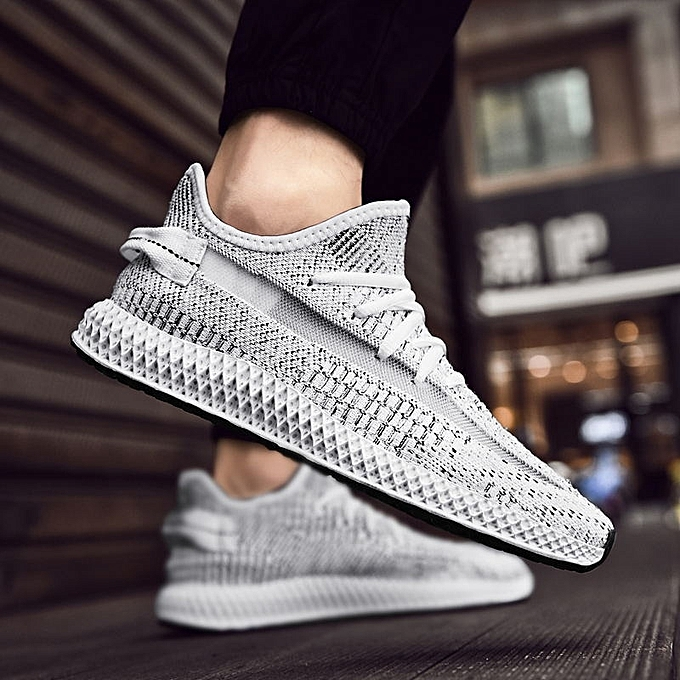 Other New Stylish Flying Woven Men's Breathable baskets Hollowing Out chaussures gris à prix pas cher    Jumia Maroc