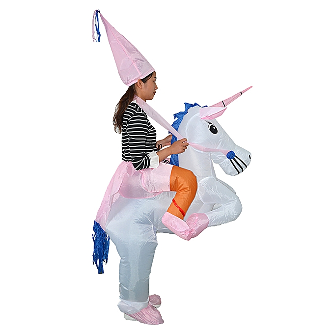 Autre Adult Inflatable Costume Unicorn Rider BFaible up Costume for HalFaibleeen Robe up à prix pas cher