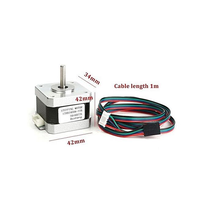 UNIVERSAL 4-Wire Whith Cable Nema 17 Stepper Motor 32N.m For 3D Printer 1.5A 17HD34008-22B - argent à prix pas cher