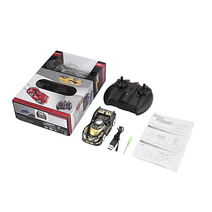 Generic DM Zero Gravity Magic Wall Floor Climber Remote Control Kid Toy Racing Car-noir à prix pas cher