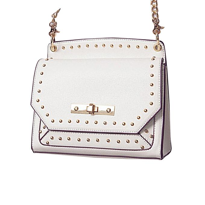 Siketu Fashion femmes Handbag Shoulder Bag Messenger Large Tote Leather Ladies Purse WH- blanc à prix pas cher