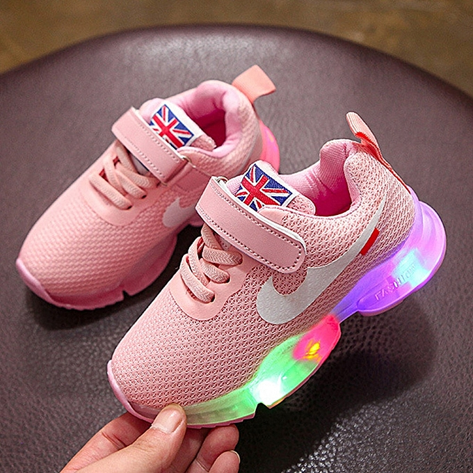 Other Stylish Soft Soles LED Light chaussures Sports chaussures for Kids Girls-rose à prix pas cher    Jumia Maroc