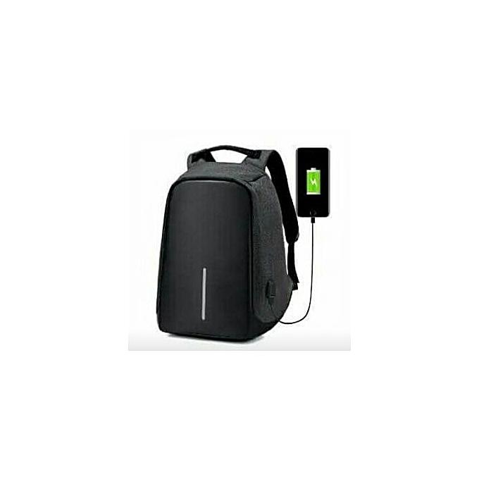 Generic Sac à dos port USB voyage multifonction - Noir à prix pas cher