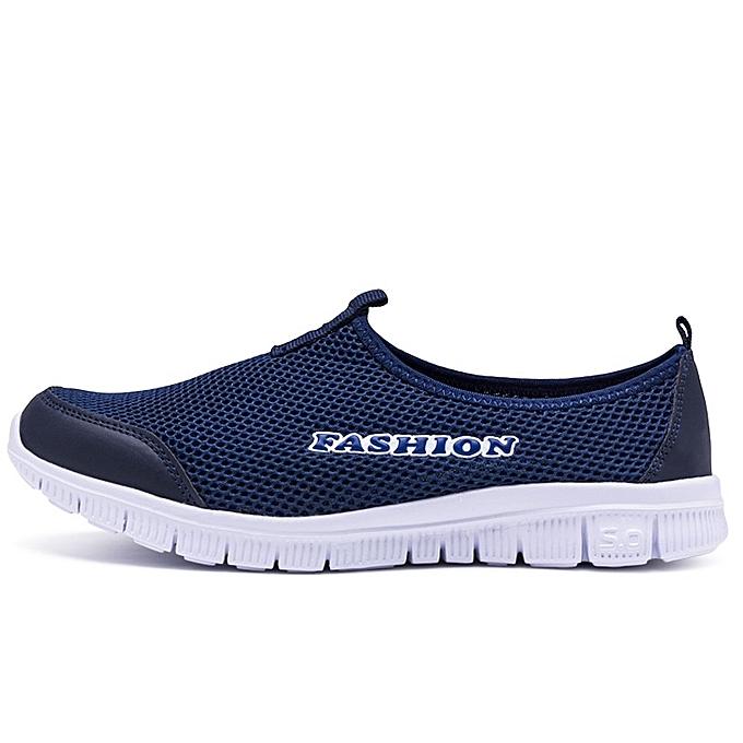 Other Hommes's Décontracté respirant Loafers engrener Sports chaussures -Dark  bleu à prix pas cher
