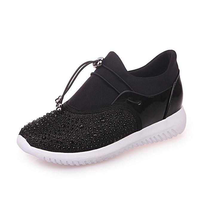 mode Hommes's Wohommes Unisex Décontracté paniers Sports FonctionneHommest respirant engrener chaussures- noir à prix pas cher