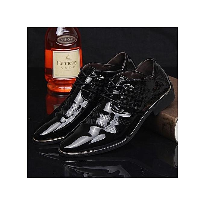 Generic Men Business Leather chaussures Men Formal chaussures Dress chaussures Oxford chaussures-noir02 à prix pas cher