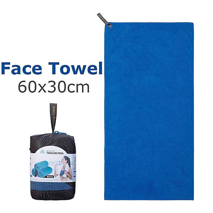 AONIJIE E4083 Microfiber Gym Bath Towel Travel Hand Face Towel Quick Drying For Fitness Workout Camping Hiking Yoga Beach(FaceTowel Dark bleu) à prix pas cher