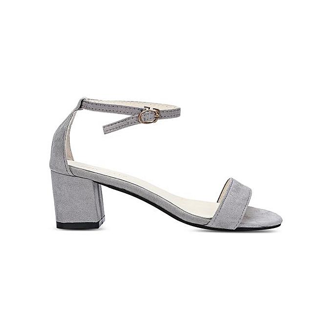 Fashion Trendy Open Open Open Toe Ankle Strap Buckle Low Heel WoHommes  Shoes à prix pas cher    Jumia Maroc 4e35a0